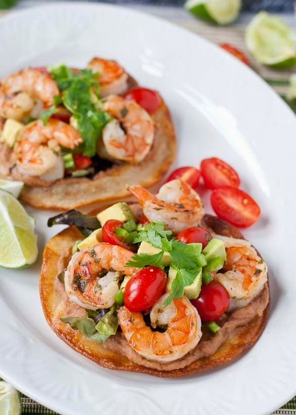 Margarita Shrimp Tostatas