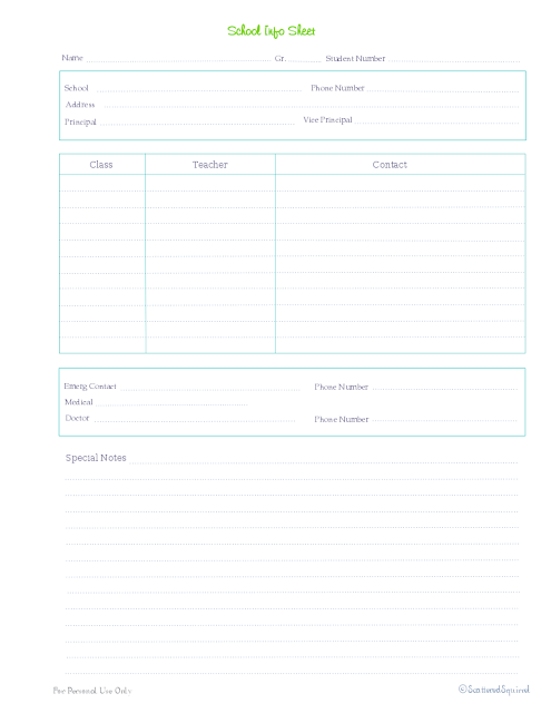 free printable home management binder kids