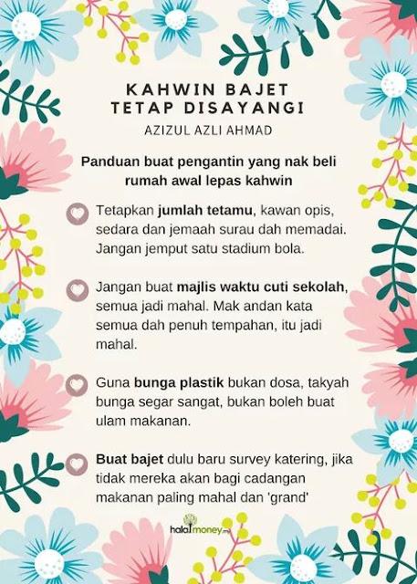 16 Tips Berjimat Untuk Majlis Kahwin Bajet