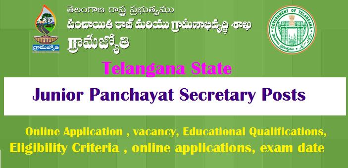 Telangana Junior Panchayat Secretary 9355 Posts Recruitment 2018