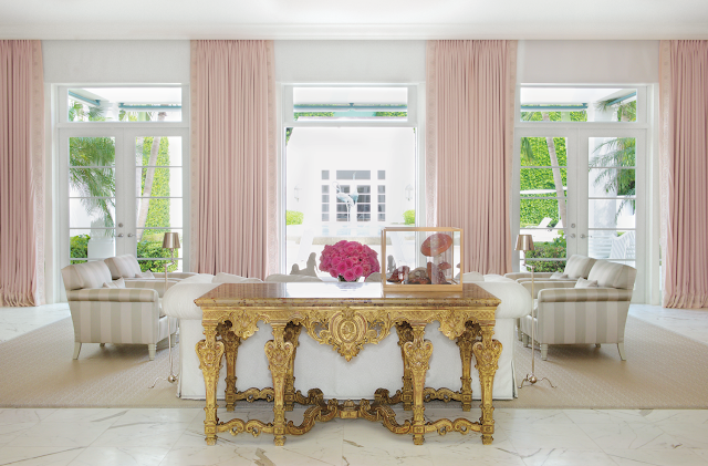 These Interiors Are Just Beautiful .... I Always Feel Pink Is A Happy  Colour And Very Soothing! Interior Above From The Brilliant James Aman .