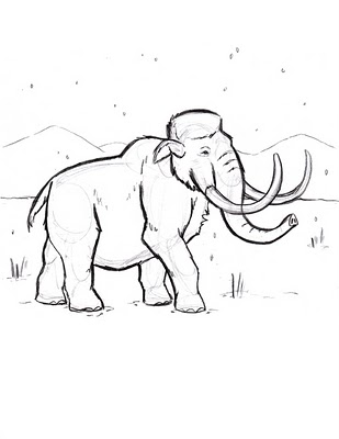 Free Wild Dinosaur Mammoth Coloring Pages