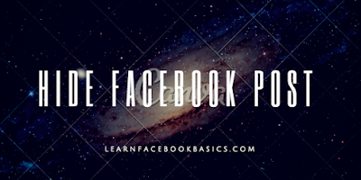 How you can hide and unhide a Facebook Post