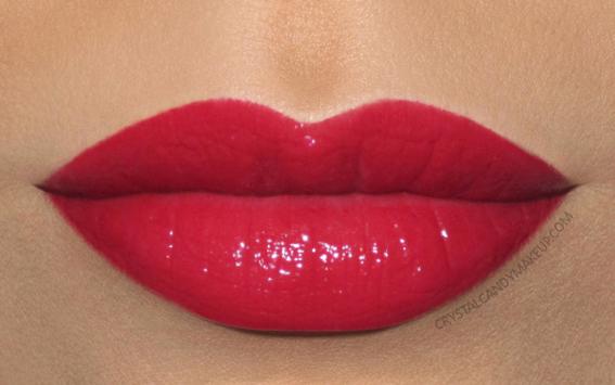 Clarins Joli Rouge lipstick 754 Deep Red Swatch