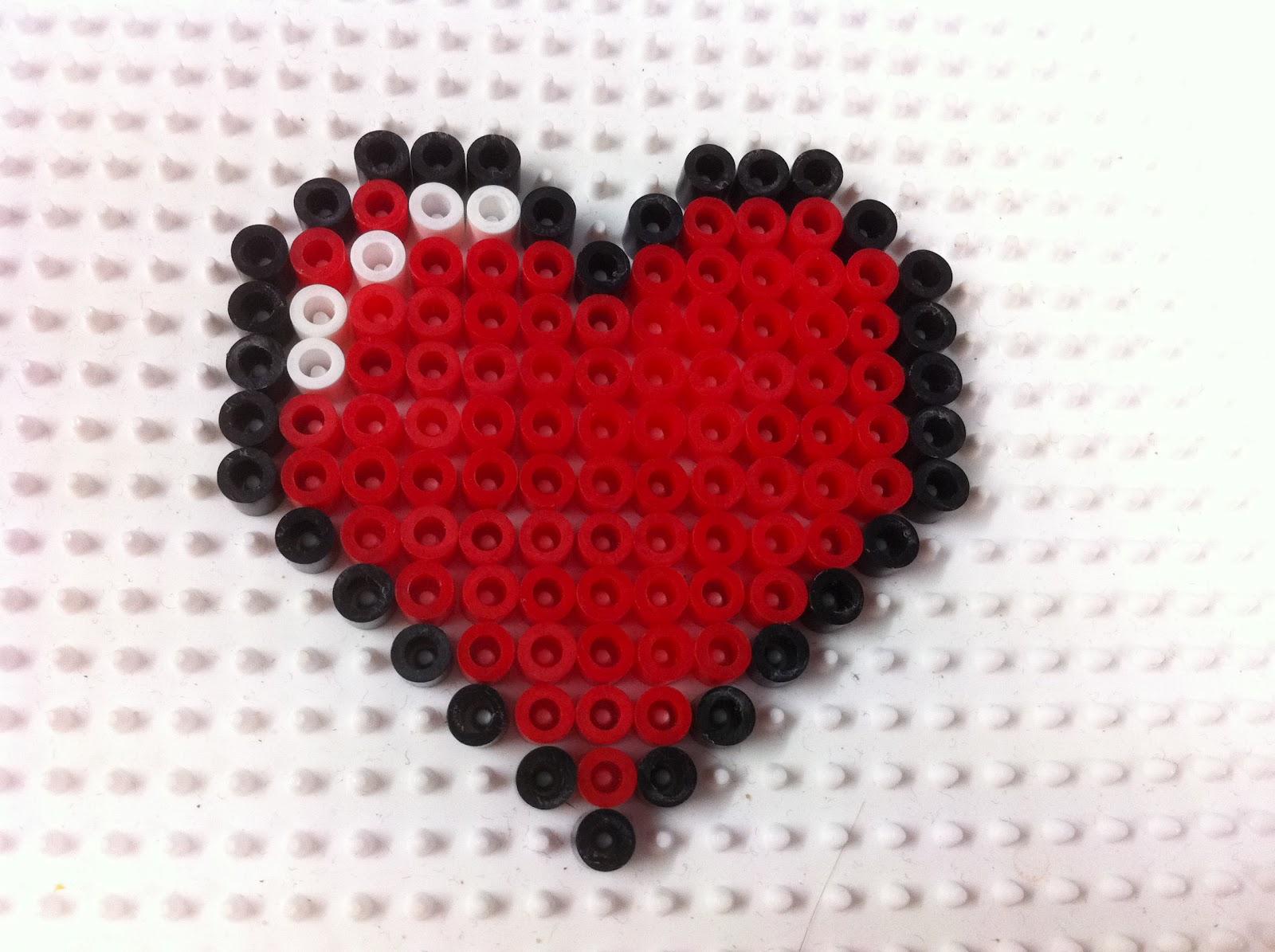 Perler Beads Hearts | Origami Tutorials | Pixel Bead Art ... |Perler Bead Heart