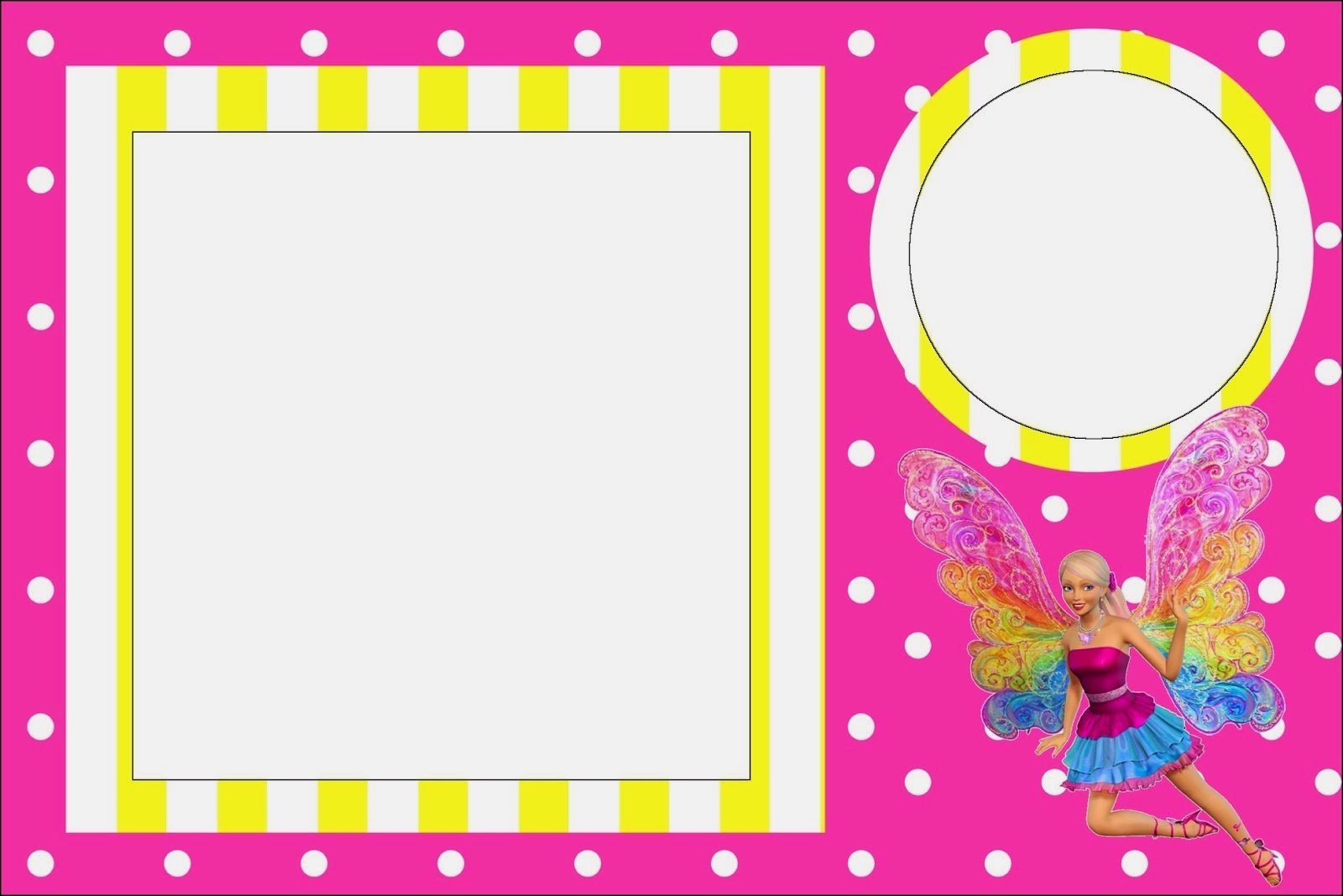 Barbie Fairytopia: Free Printable Invitations. . | Oh My Fiesta! in ...