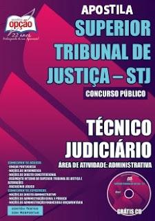 apostila concurso stj Técnico Judiciário