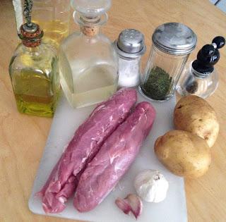 Solomillo de cerdo al horno, ingredientes