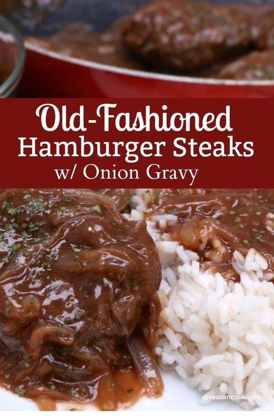 Country Hamburger Steak With Onion Gravy