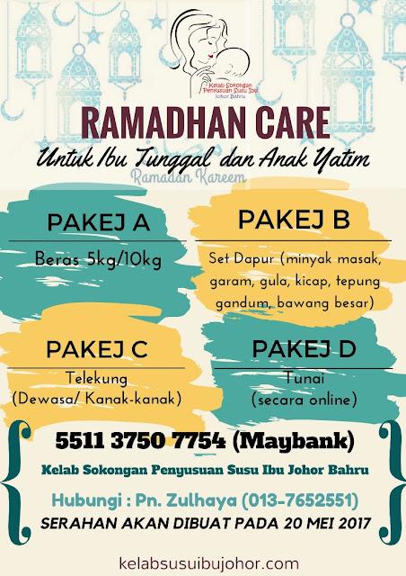 Hebahan: Ramadhan Care untuk Ibu Tunggal dan anak-anak Yatim
