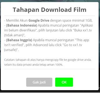 cara download film indoxxi di android