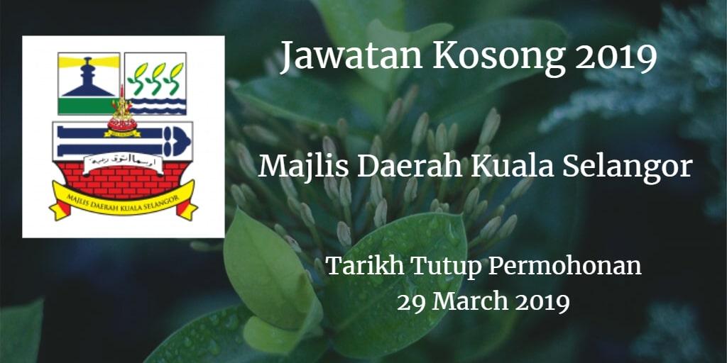 Jawatan Kosong MDKS 29 March 2019