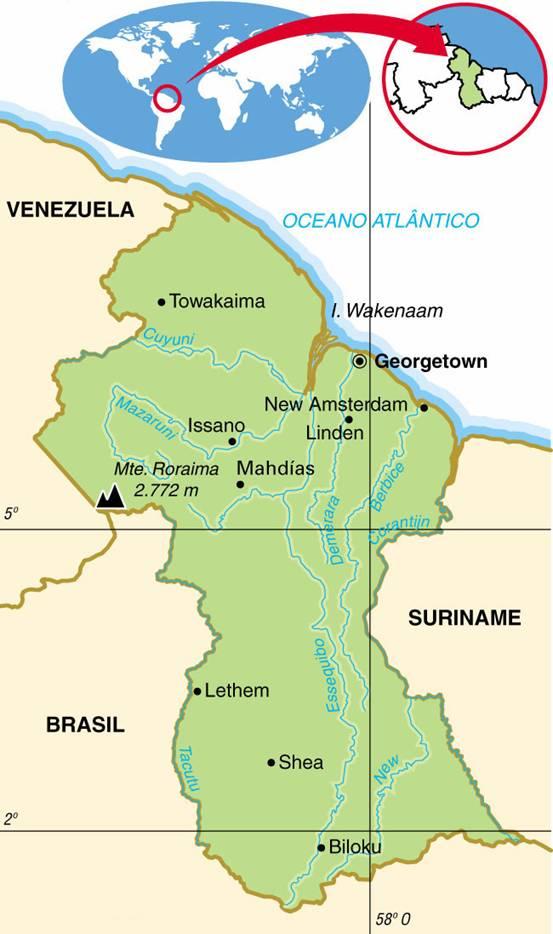 GUIANA, ASPECTOS GEOGRÁFICOS E SOCIOECONÔMICOS DA GUIANA