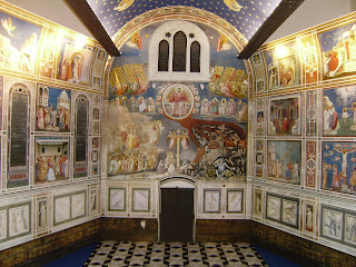 Frescoes by Giotto at the Scrovegni Chapel in Padua