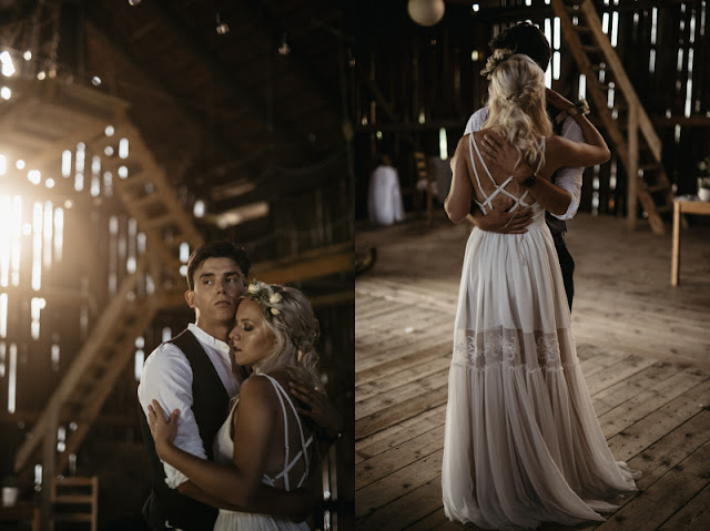 Rustykalny ślub.