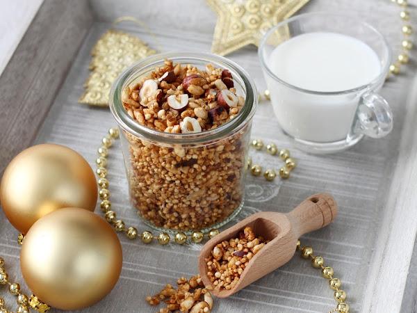 Granola di Natale con nocciole