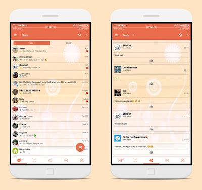 BBM Mod Candy Light style versi 3.3.2.31 Apk Update Terakhir Android