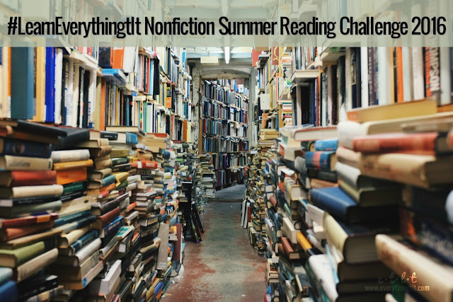 Nonfiction Reading Challenge - choose a topic and get learning with this summer reading challenge