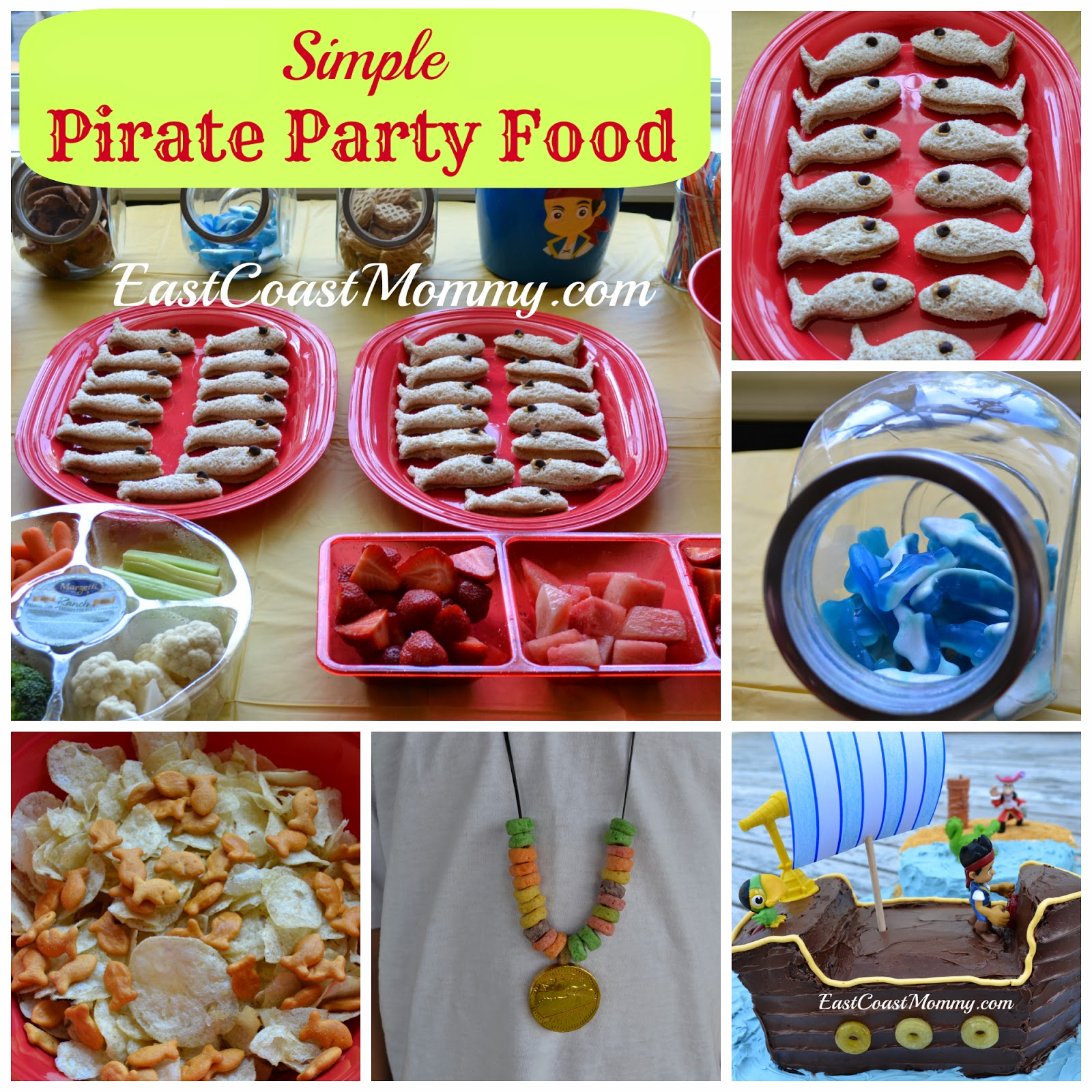 Recently I Had A Jake And The Neverland Pirates Party For My Youngest Son Although Kept It Simple Think Pirate Themed Food Was Adorable