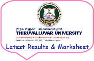 Thiruvalluvar University Results May June 2020