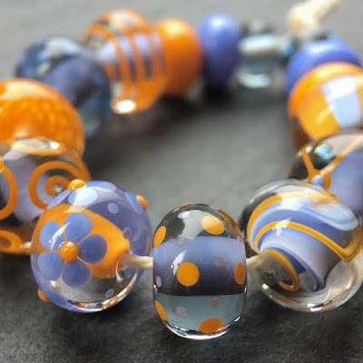 Lampwork glass beads handmade by Laura Sparling
