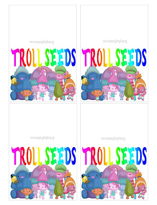 Troll Seeds Bag Topper Printable