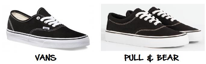 clones 2016 zapatillas vans pull & bear