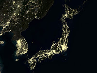 Japan at night (Image Credit: Planet Observer/UIG/Getty Images) Click to Enlarge.