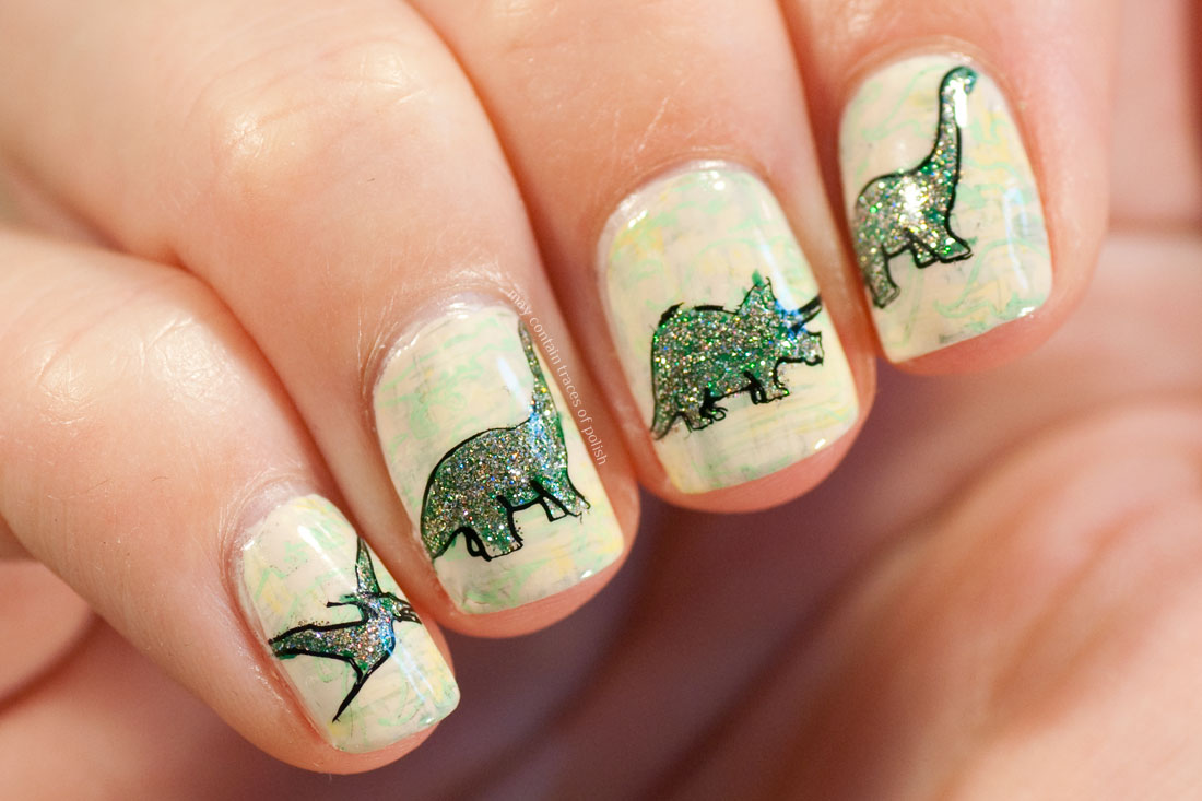31 Day Challenge: Day 23, Inspired by a Movie - Jurassic World Nails