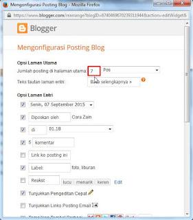 Cara Mengatur Jumlah Postingan Di Halaman Utama Blog