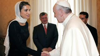 Pope and Queen of Jordan