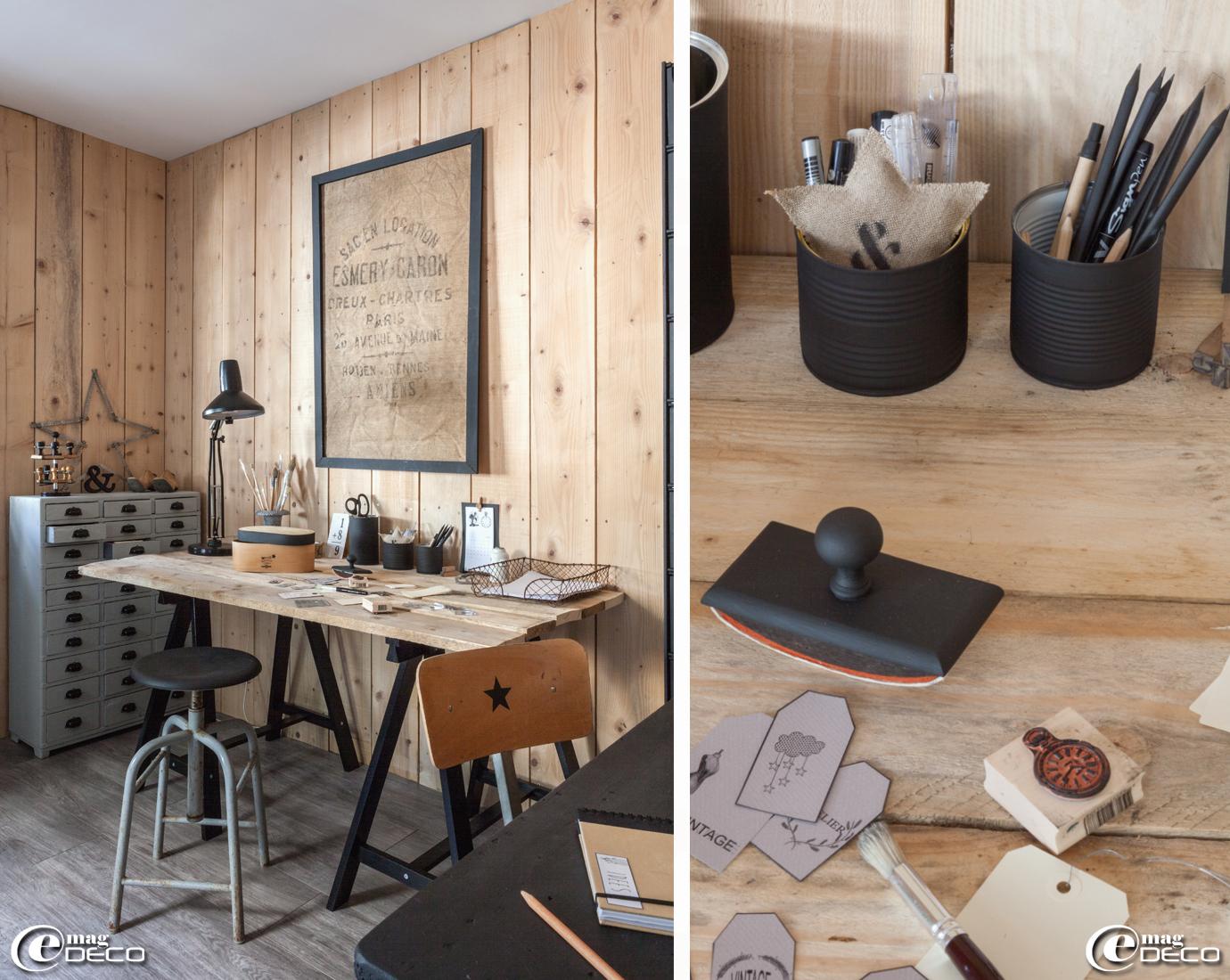 Faire un bureau avec une planche diy un bureau pour moins de