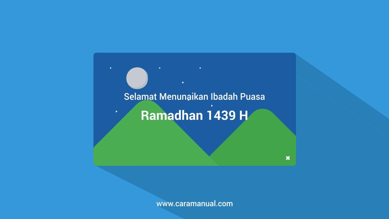 Cara Memasang Pop-up Ucapan Selamat Berpuasa Ramadhan di Blogger
