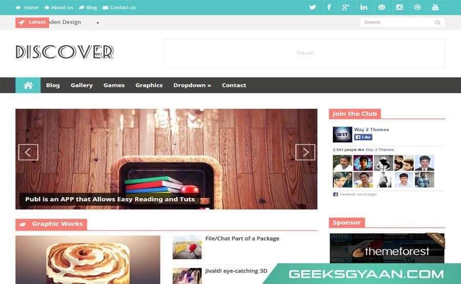 Download Responsive Premium Free Blogger Templates 2015 - Geeks Gyaan - free cute blogger templates