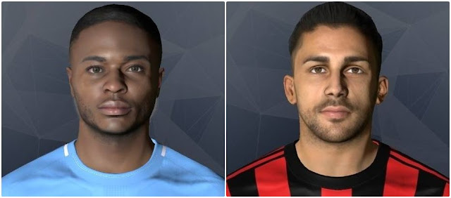 PES 2017 R. Sterling and R. Rodriguez Faces