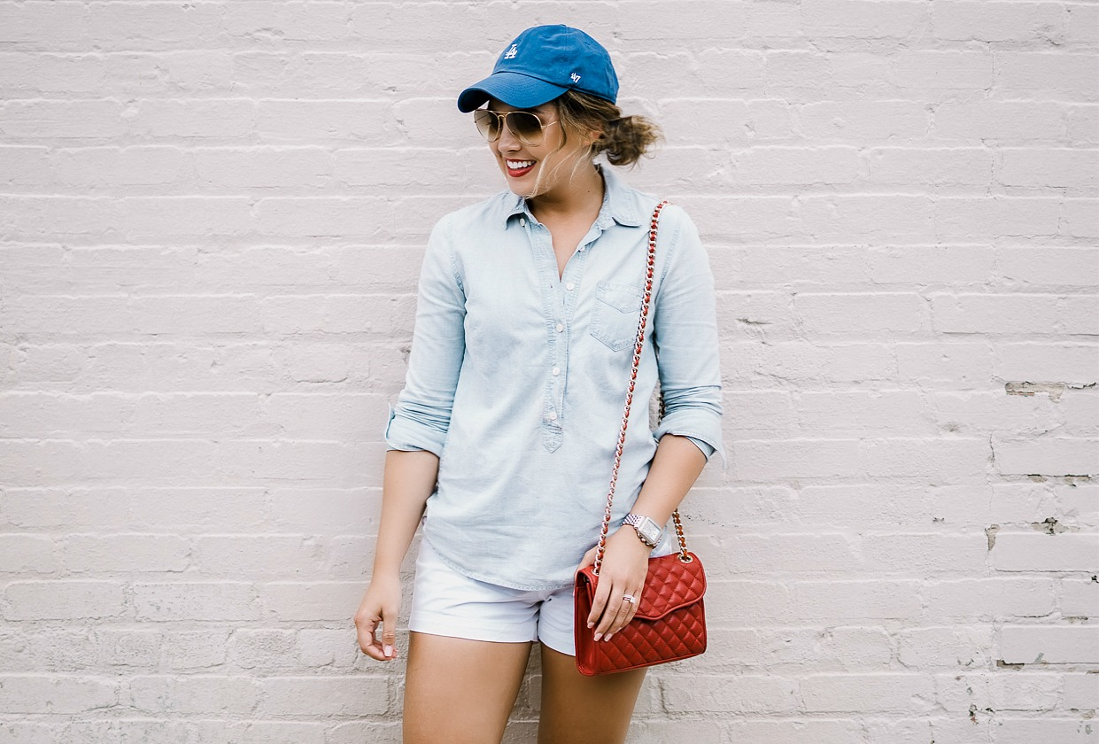 j crew look, red white and blue, rebecca minkoff