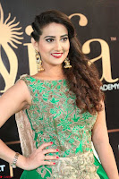 Manjusha in Beautiful Sleeveless Green Anarkali dress at IIFA Utsavam Awards 92.JPG