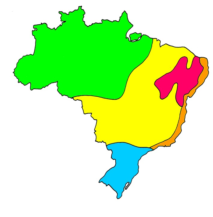 Educar Na Real Mapas Do Brasil Colorido