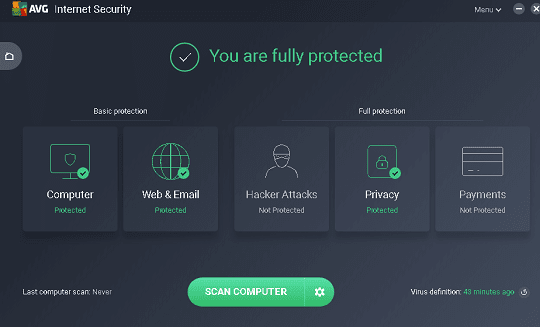 مجانا لمدة عام برنامج الحماية الشهير AVG Internet Security 2018