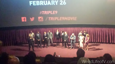 Cast and director of Triple 9 - Triple 9 premiere