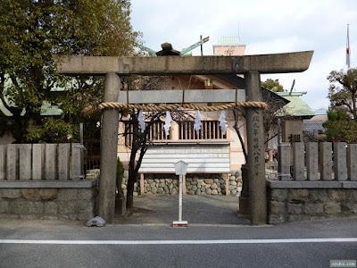 櫻宮神社の裏門の鳥居
