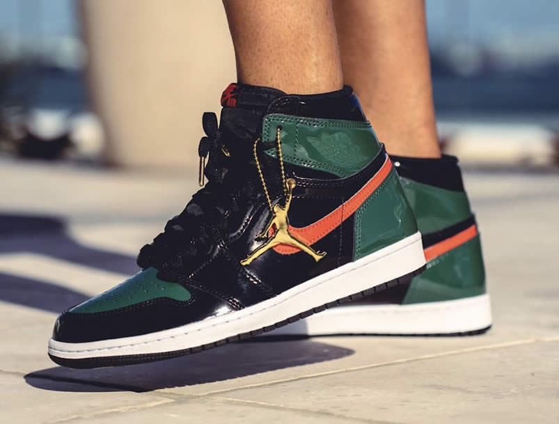 0b0ae3f2940d1a AnpKick Brand Street Footwear  Solefly Miami Art Basel x Air jordan 1 Green  Patent Leather  Friends   Family  AV3905-038