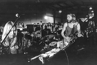 Allman Brothers en la Warehouse en diciembre de 1970.