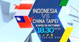 Susunan Pemain Timnas Indonesia U-19 vs Taiwan - Piala AFC U19 2018 #TimnasDay