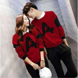 Kaos Couple Andhani Merah Terbaru Setelan Kaos Pasangan Bj0330
