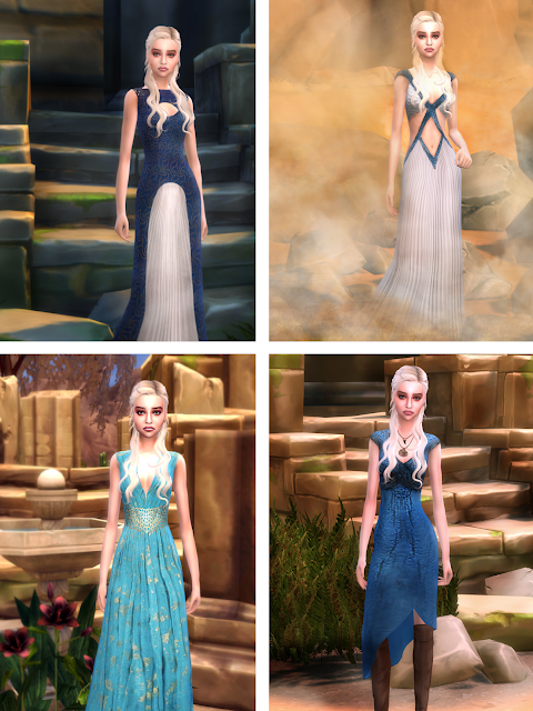 daenerys targaryen sims 4 clothes