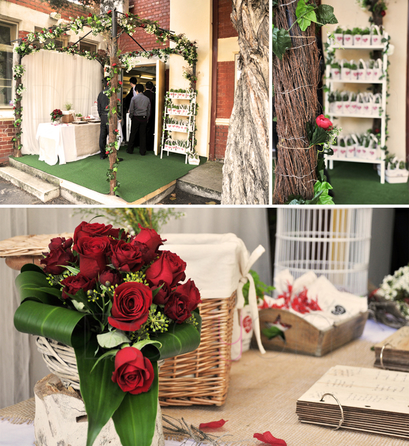 Rustic Wedding Decorations For Indoor And Outdoor Settings: DECYGN: Rustic & Charmed Garden Wedding Décor
