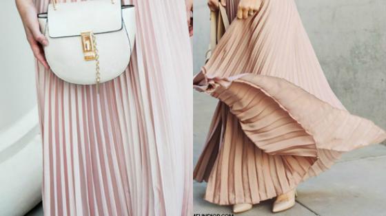 modelos de saia plissada