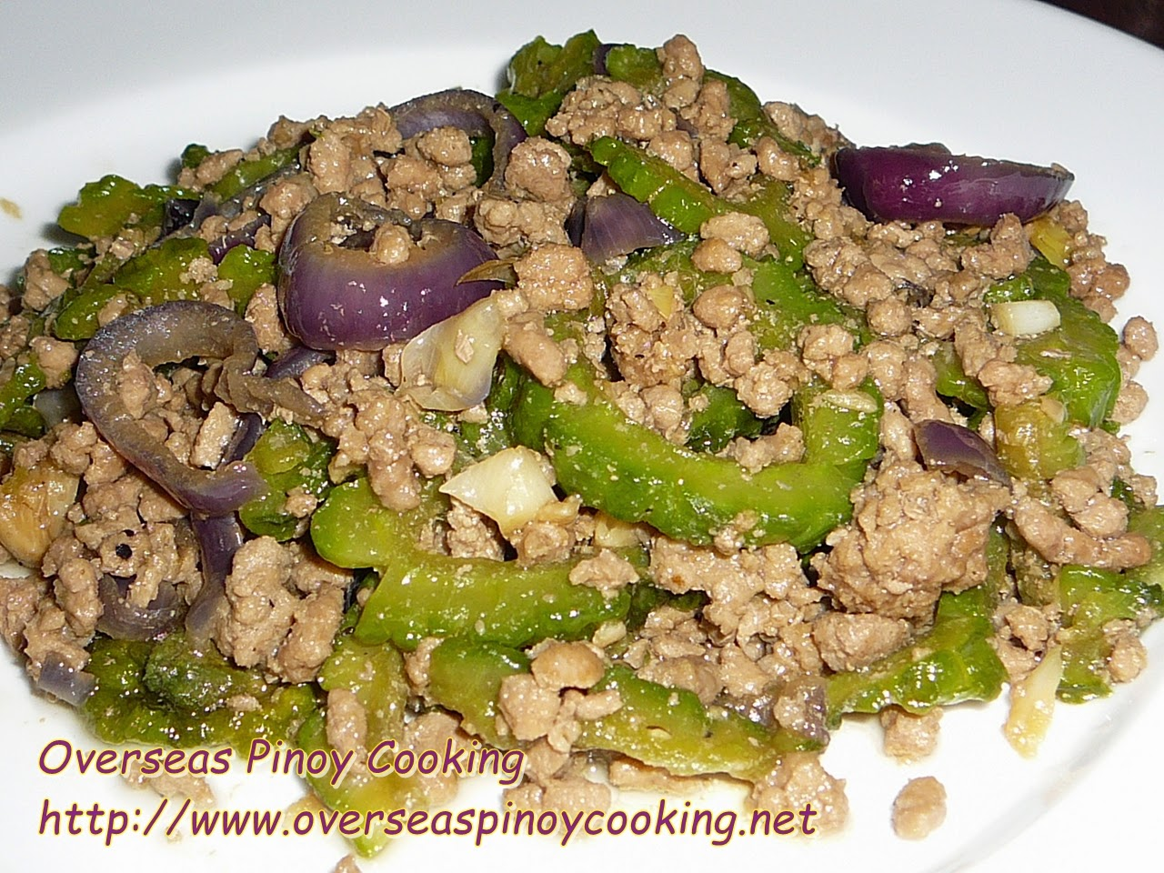 Ampalaya Pork Ginisang Ground