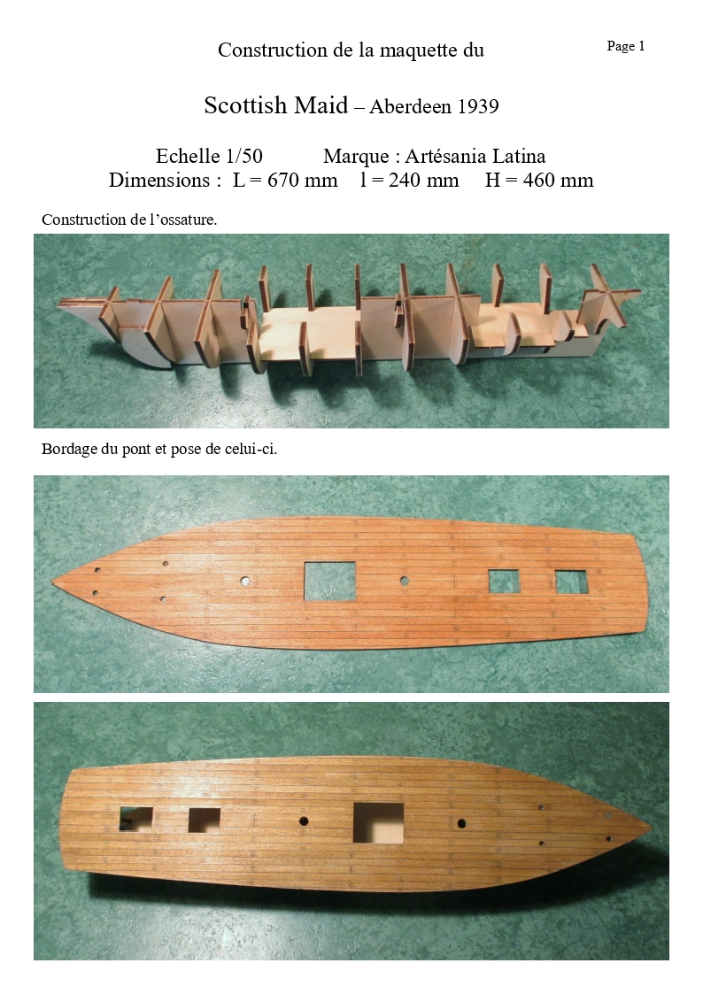 maquettes de bateaux en bois maquette du scottish maid. Black Bedroom Furniture Sets. Home Design Ideas